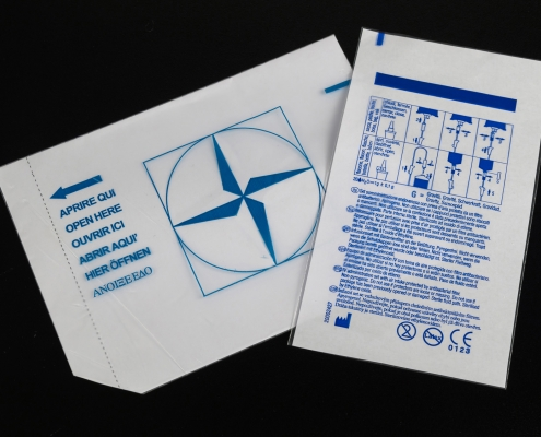 BUSTE PER DEFLUSSORI E TRASFUSORI infusion and transfusion set bags