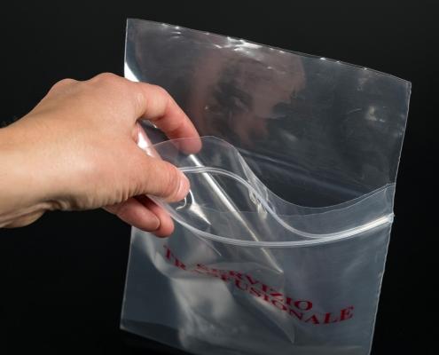 Buste Biohazard doppia tasca campioni laboratorio