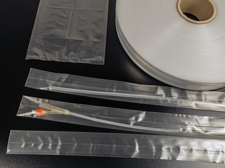 buste e bobine zigrinate per cateteri